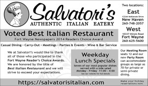 Salvatori's print advertisement B&W