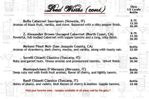 Salvatori's Beverage/Dessert Menu red wine 02