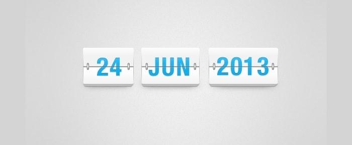 Clean Flip Time & Date Board Design Shack