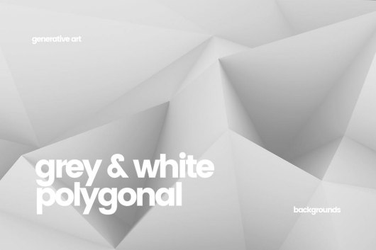 10 Black and White Polygon Backgrounds