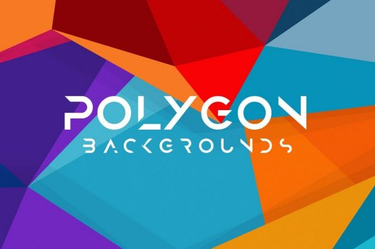 10 Different Colored Polygon Backgrounds
