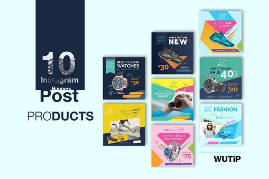 10 Instagram Product Promotion Banner Templates