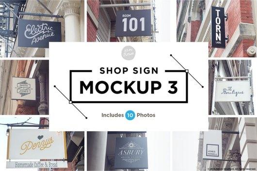 10 Shop Sign Mockups 2