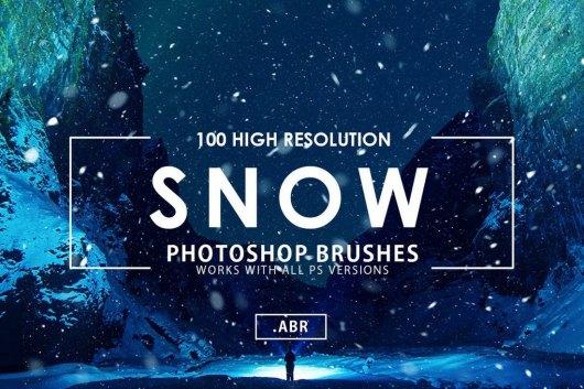 100 Snow Photoshop Brushes