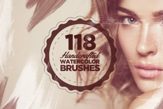 118 Handcrafted Photoshop Watercolor Brushes