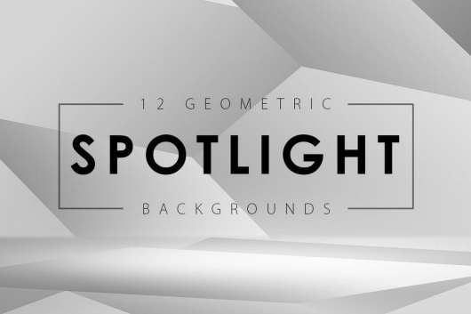 12 Geometric Spotlight Backgrounds
