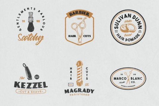 12 Vintage Barber Shop Sign Templates