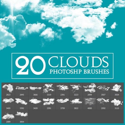 20 Photoshop Cloud Brushes