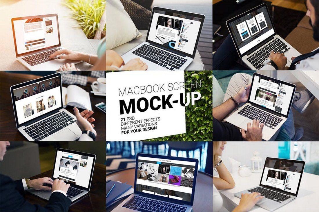 100+ MacBook PSD & Vector Mockups 31