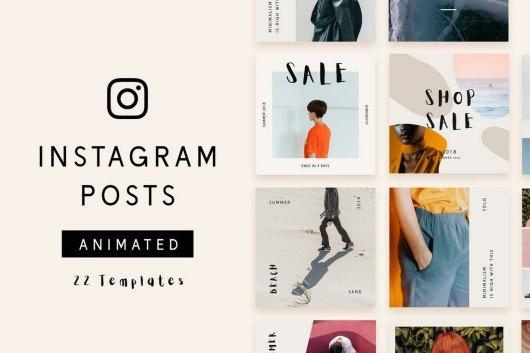 22 Animated Instagram Post Templates
