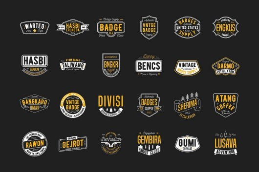 24 Vintage Badges & Sign Templates
