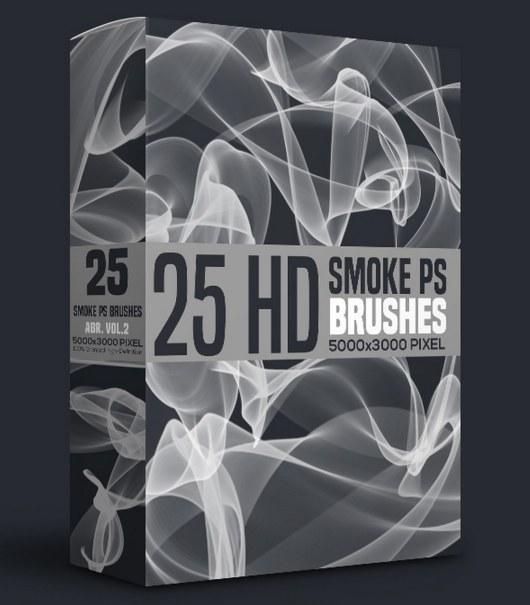 25 Smoke Photoshop Brushes Abr Vol.2