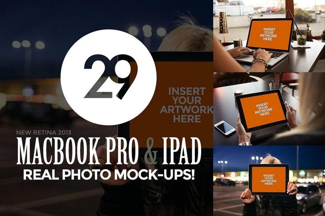100+ MacBook PSD & Vector Mockups 41