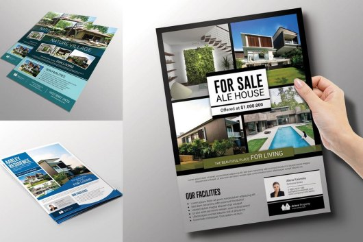3-In-1 Real Estate Flyer Templates