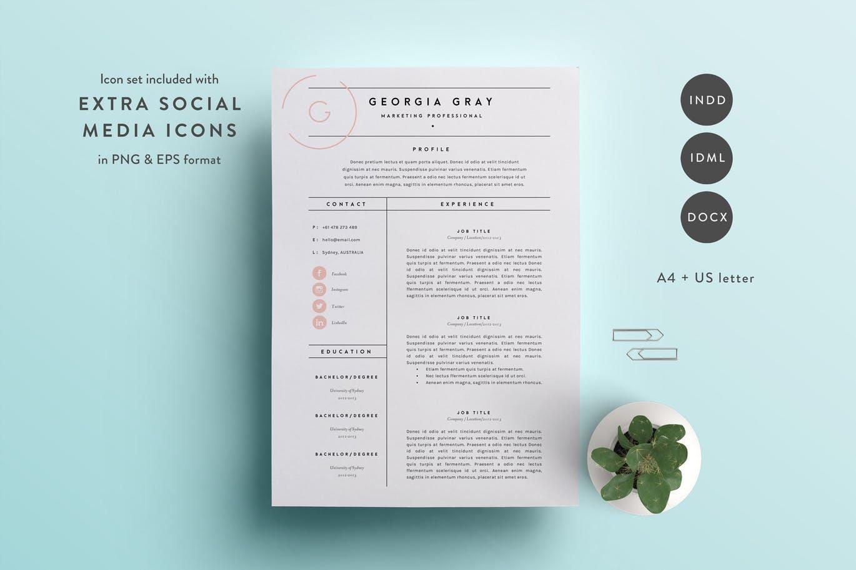 50 Best CV & Resume Templates Of 2018 Design Shack