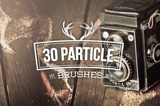 30 Particle Photoshop Brushes