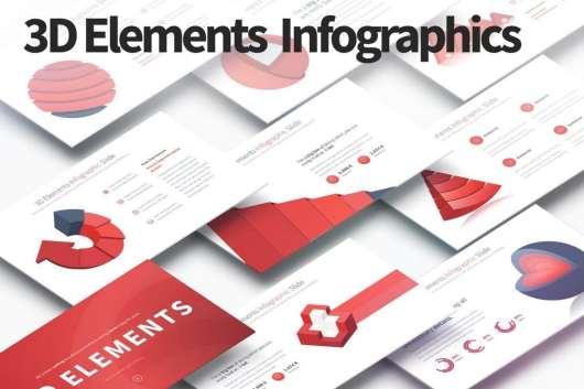3D Elements - PowerPoint Infographics Slides