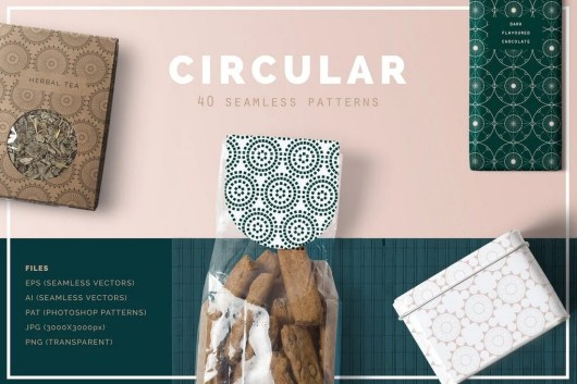 40 Circular Patterns Set