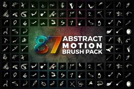 87 Abstract Motion Smoke Brushes Pack