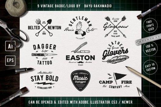 9 Vintage Badge Sign Templates