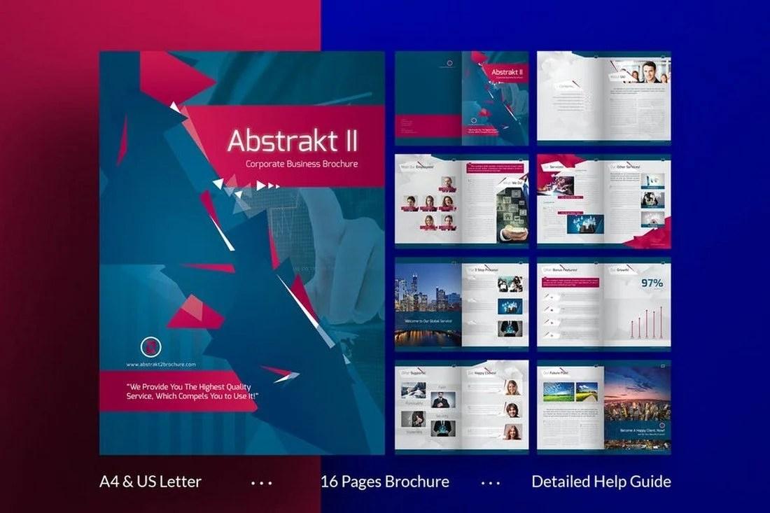 Abstract II Multipurpose Brochure Template - 70+ Modern Corporate Brochure Templates