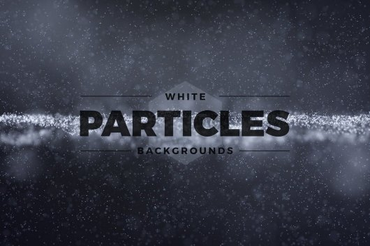 Abstract White Particles Backgrounds