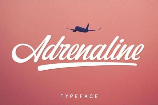 Adrenaline - Free Script Font