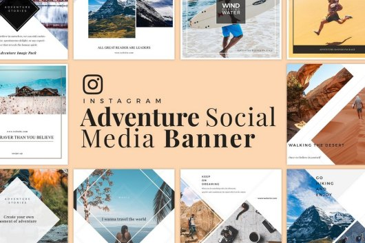 Adventure - Travel Social Media Banner Templates