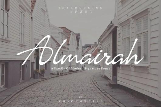 Almairah Signature Font