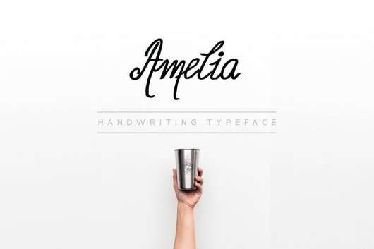 Amelia - Handwriting Calligraphy Font