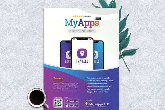 Apps Promotion Poster Template
