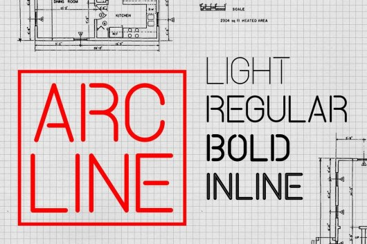 Arcline - Stencil Font