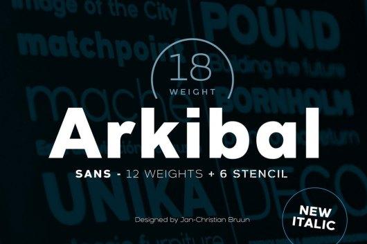 Arkibal Sans - Font Family