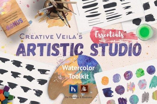 Artistic Studio Watercolor Toolkit