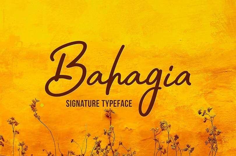 Bahagia Free Typeface