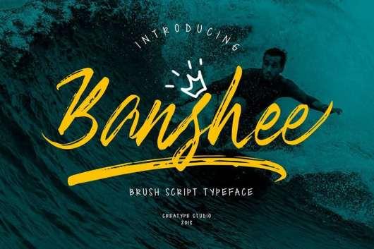 Banshee Brush Font