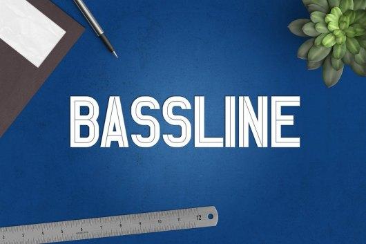 Bassline Modern Poster Font