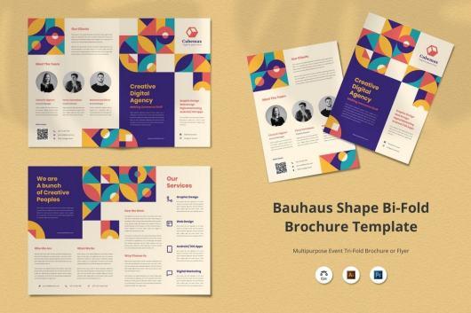 Bauhaus Shape Agency Bifold Brochure