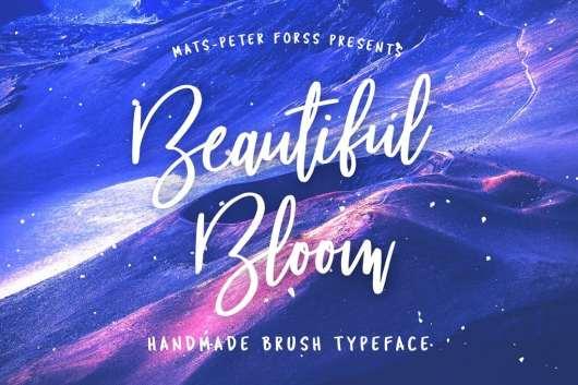 Beautiful Bloom - Free Brush Font