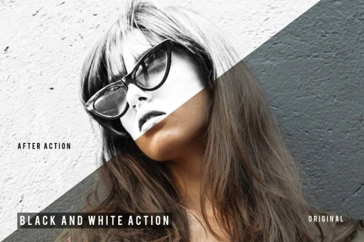 Black And White Photoshop Action