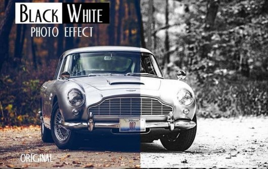 Black & White Photo Effect PS Action