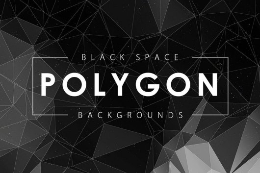 Black and White Space Polygon Backgrounds