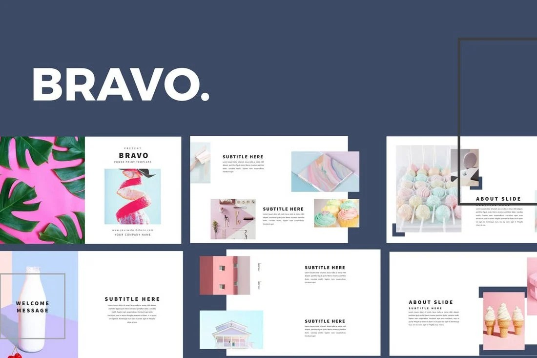 Bravo - Minimal Keynote Template