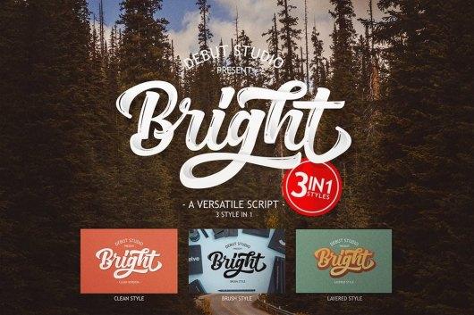Bright Script Poster Font