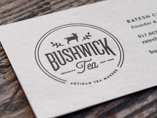 Bushwick Tea Letterpress Card