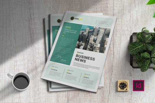 Business News InDesign Newsletter Template