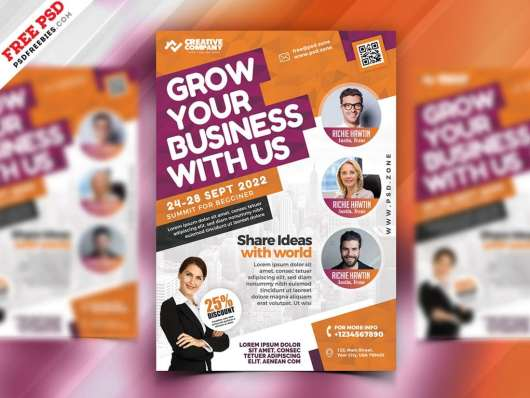 Business Seminars Workshops Poster Template