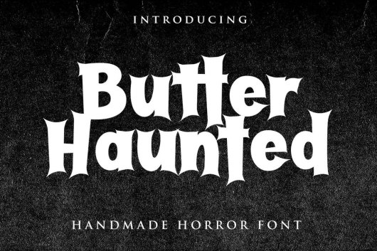 Butter Haunted - Halloween Font