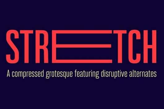 Bw Stretch font family