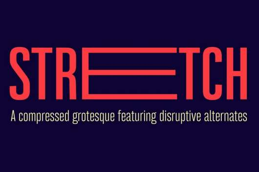 Bw Stretch font family
